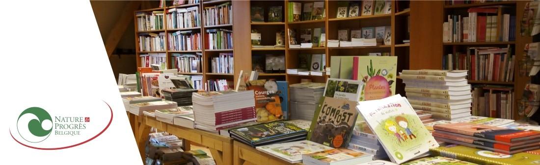 Un aperçu de la librairie de Nature & Progrès